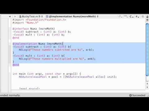 Objective C Programming Tutorial - 48 - Categories