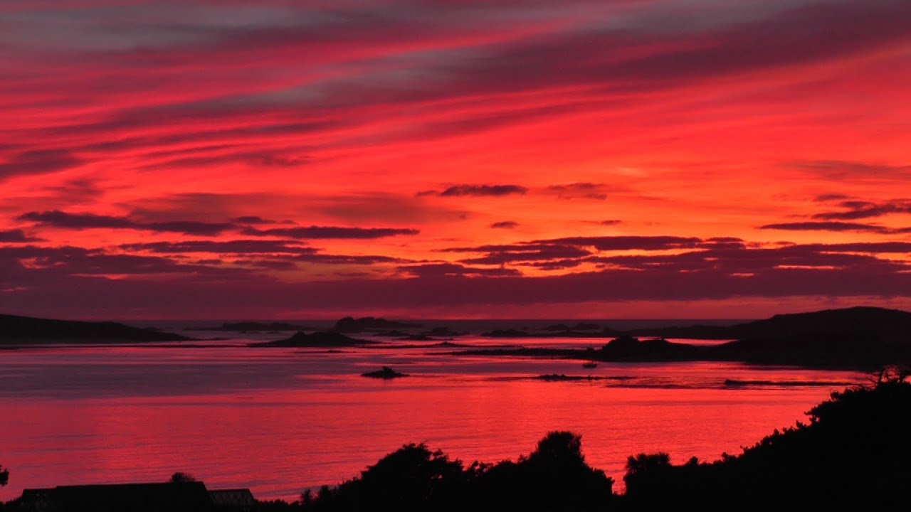 The Most Beautiful Sunset and Red Sky in The World Ever - Isles of Scilly - YouTube