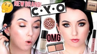 NEW DRUGSTORE BRAND! Testing CYO Makeup First Impressions...