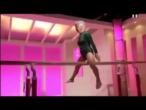 80 year old woman who does gymnastics - YouTube