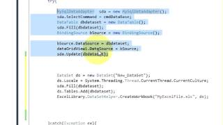C# Tutorial 29:How To Export Data From Database To Excel