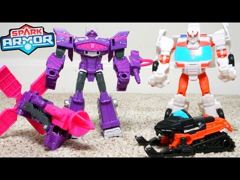 Transformers Cyberverse Wave 2 Spark Armor Shockwave Ratchet Combiner Robots in Disguise