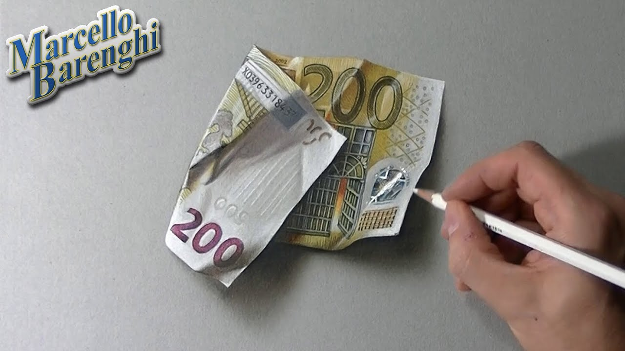 Comment dessiner un billet de 200€ ?