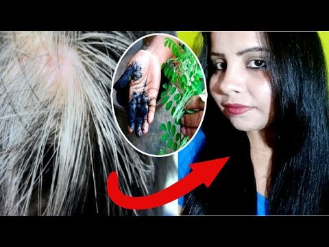 Use this powder for 30 Min - Turn White Hair to BLACK Hair Naturally- No Chemical No Dye