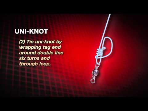 Видео как завязывать рыболовные узлы.