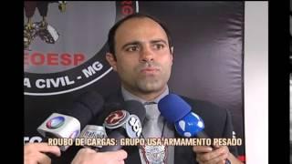 Pol�cia apresenta integrantes de quadrilha de roubo de cargas em Minas