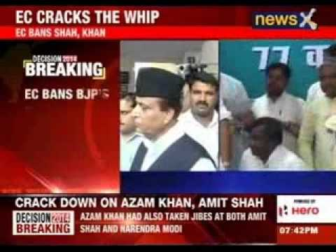 EC bans Amit Shah, Azam Khan from holding rallies in UP