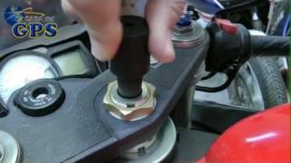 Montar la fijación de moto para eje de manillar