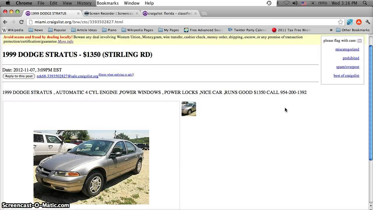 South Florida Cars Trucks By Owner Craigslist Autos Post