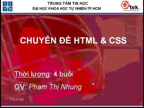 Chuyên đề HTML & CSS (Bài 04)
