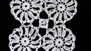 Crochet : Motivo #1 (12 Puntas) Union