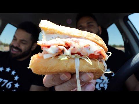 "Eating Firehouse Subs ""Italian Sandwich"""