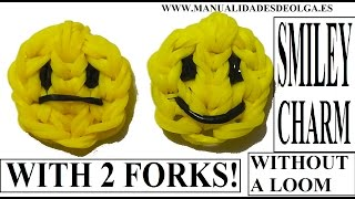 HOW TO MAKE SMILEY FACE CHARM WITH 2 FORKS. WITHOUT