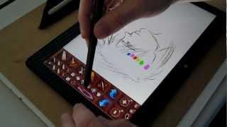 Asus Vivotab Tf810c With Sai & Sculptris Small Drawing