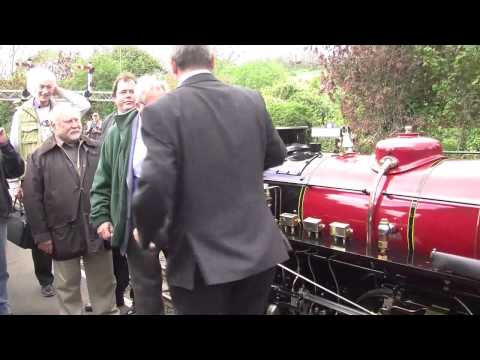 Winston Churchill. Romney Hythe & Dymchurch Railway. May 11th 2013 Re-naming ceremony