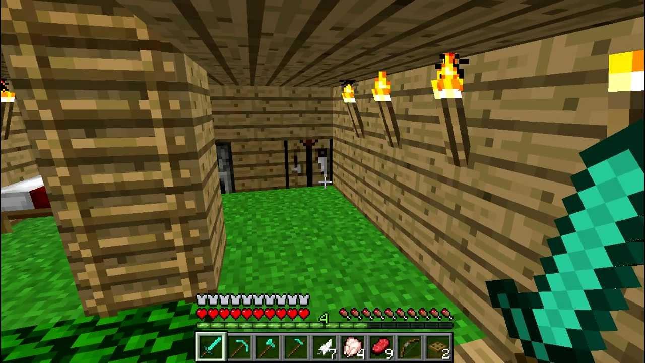 tutorial minecraft come costruire letto, torcia e alcune armi ...