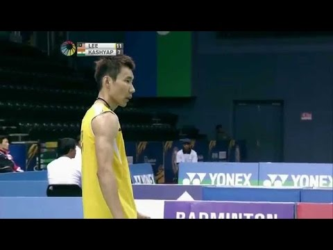 Lee Chong Wei vs P. Kashyap- CRAZIEST BADMINTON RA