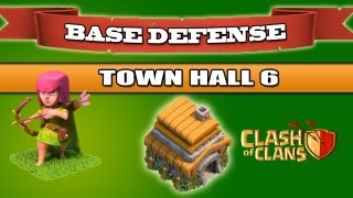 Clash Of Clans BEST Base Defense Town Hall 6 1350