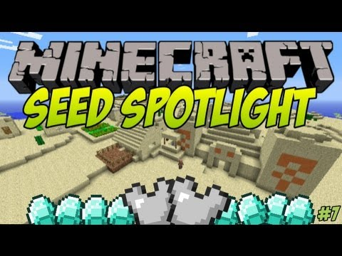 Minecraft 1.5.2 Seed Spotlight - BIG VILLAGES, TEMPLES, AMAZING LOOTS! #7