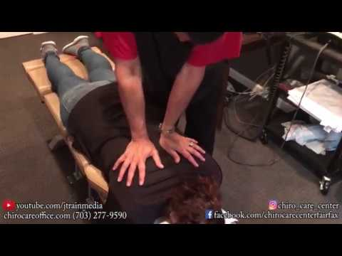 JUST ADJUSTMENTS - Chiropractic Adjustment on A Patient With Shooting Low Back Pain