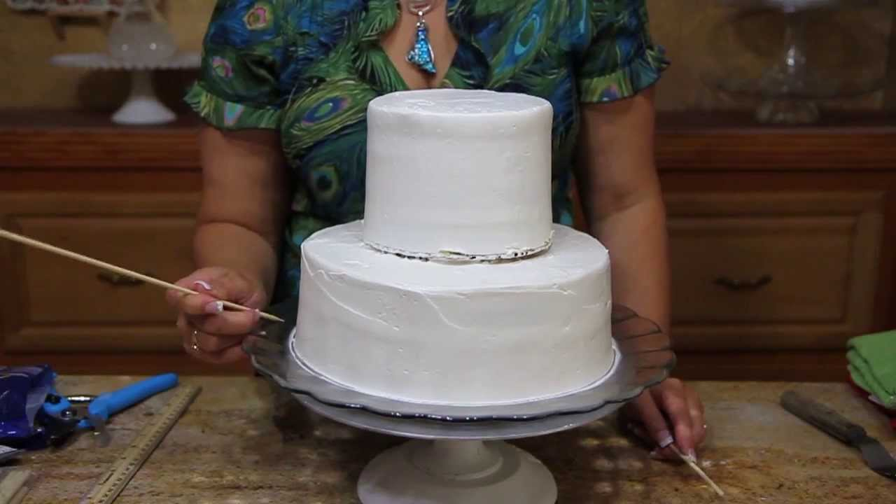 How To Make A Wedding Cake Base- Two Tier Cake - Cake ...