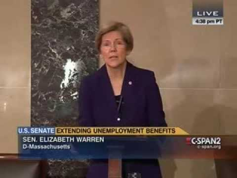 Senator Elizabeth Warren Calls for Extension of Unemployment Benefits