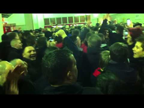 Manchester United fans at Stoke City - Singing Adnan Januzaj