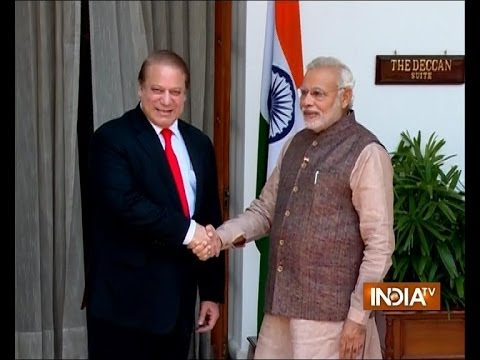PM Narendra Modi meets Pakistan Prime Minister Nawaz Sharif