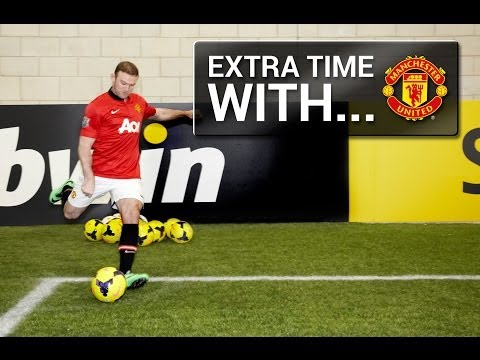 Man Utd's Wayne Rooney takes on the bwin Corner Kick Challenge