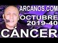 Video Horóscopo Semanal CÁNCER  del 29 Septiembre al 5 Octubre 2019 (Semana 2019-40) (Lectura del Tarot)