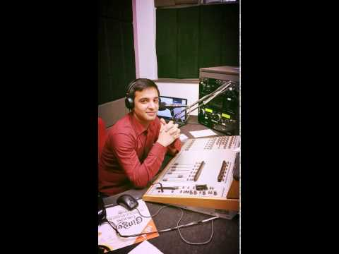 Dj faisal Javaid during show on ambur radio 103 6 fm united kingdom