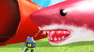 NEW RED GIANT SHARK vs NEW GIANT EXPLODING TANK! - Amazing Frog - Part 131   Pungence