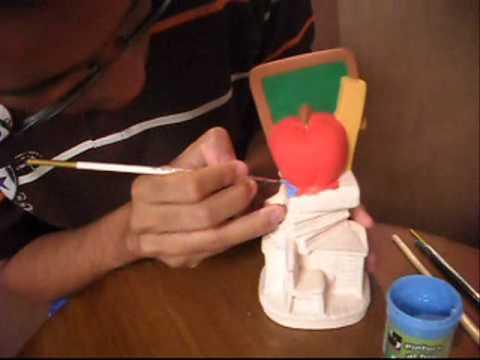 Como Pintar Una Figura De Ceramica Youtube