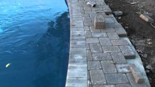 How To Cut A Paver Edge Around A Pool Or Anything Else For