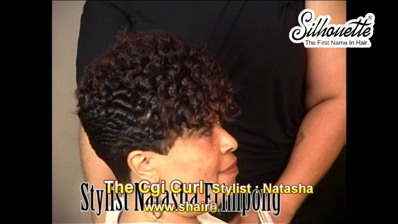 Short Freeze Curl Hairstyles Black Women