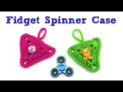 How To Crochet A Fidget Spinner Case, Episode 426