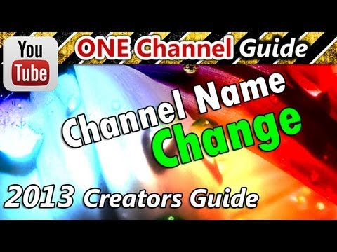 how to change your yt channel name