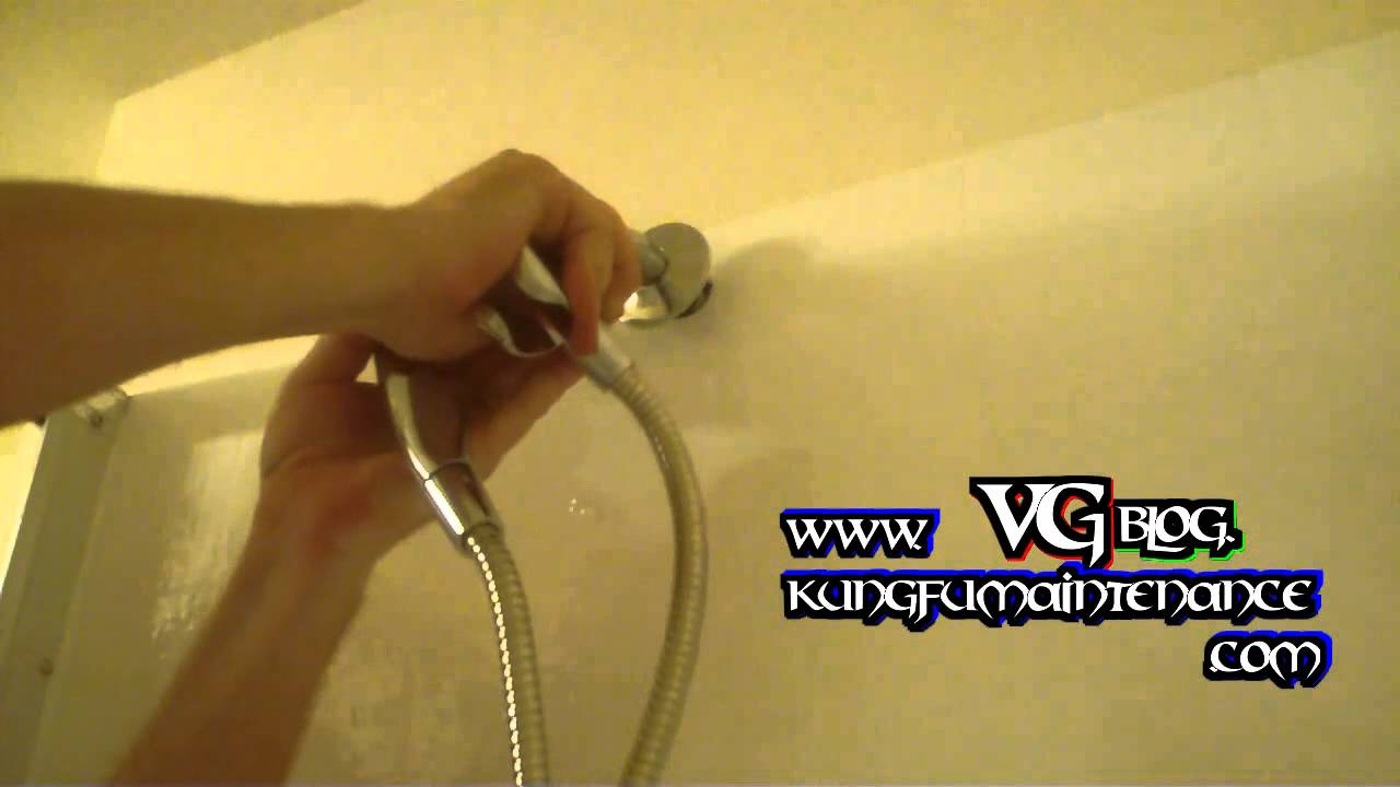 how to change shower head and arm