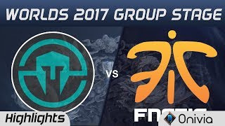 IMT vs FNC Highlights World Championship 2017 Group Stage Immortals vs Fnatic by Onivia