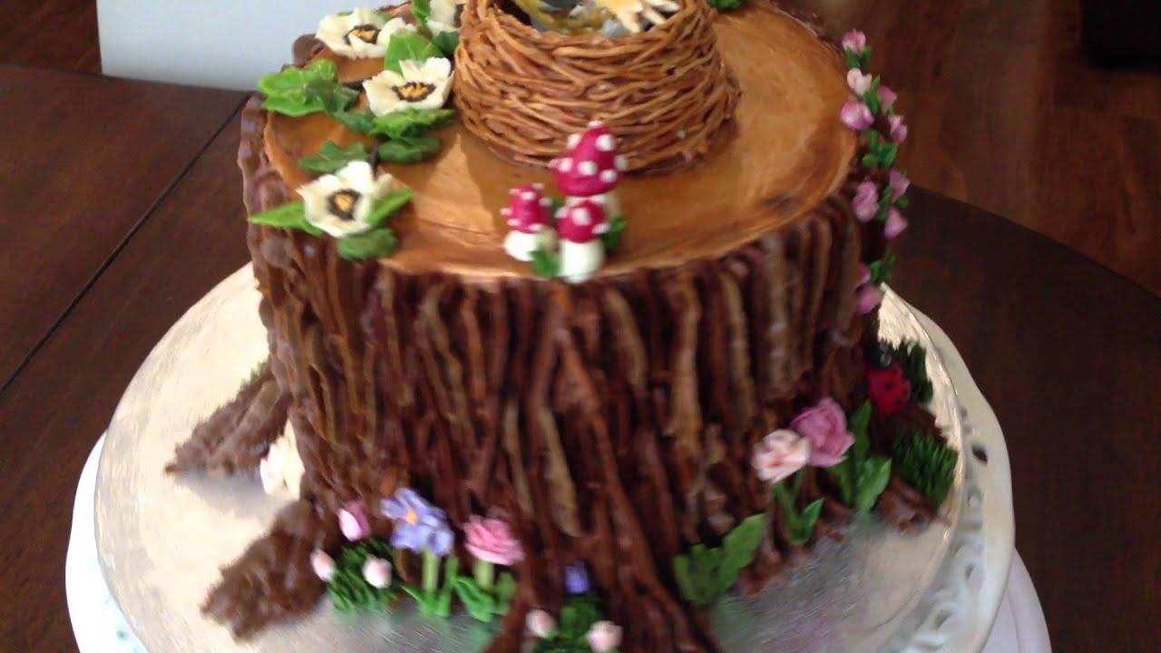 Birthday Cake Ideas Enchanted Forest Theme : Enchanted Forest Cake - YouTube