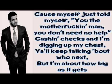 All Me - Drake Ft 2 Chainz & Big Sean (Lyrics)