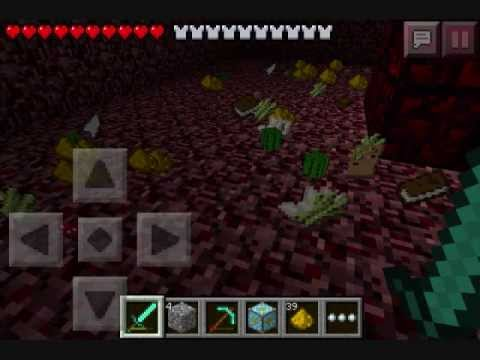 how to go to the nether in minecraft pe