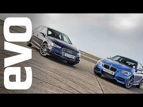 Audi S3 vs BMW M135i | evo TRACK BATTLE
