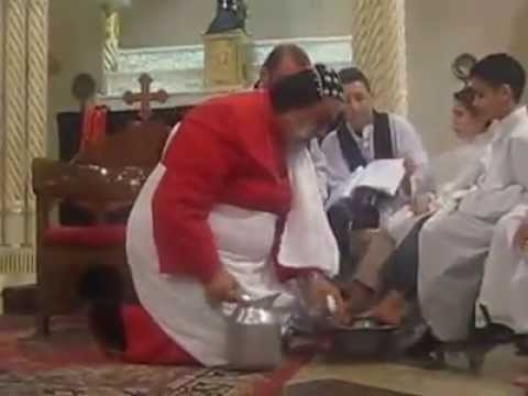 Washing of the feet by His Holiness Patriarch Moran Mor Ignatius Aphrem II
