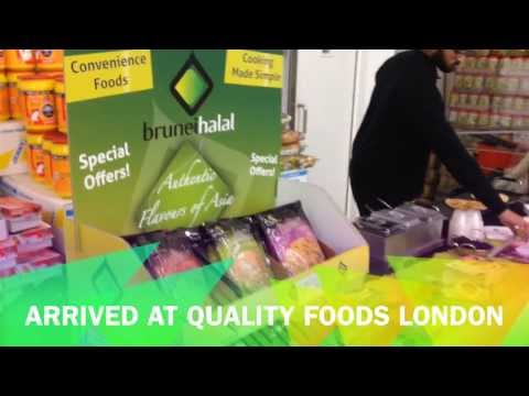 Brunei Halal - Sampling in Quality Foods, Hayes London December 2013