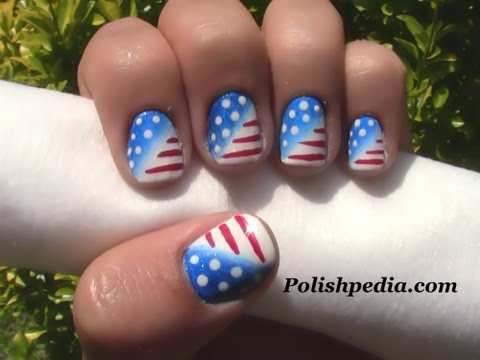 Patriotic Nail Art | 4th of July Nails