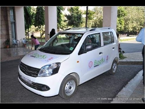 IIT Delhi Bio-Gas car project: Biogas operated car IITD technology