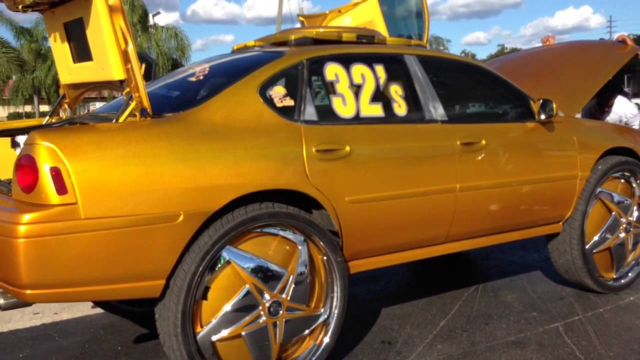 Mustang on 6s & 4s Forgies, Impalas on 30s 8s and 32s - YouTube