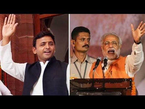 Akhilesh Yadav-Narendra Modi 'cat'fight