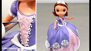 SOFIA Princess Doll Cake by Cakes StepbyStep